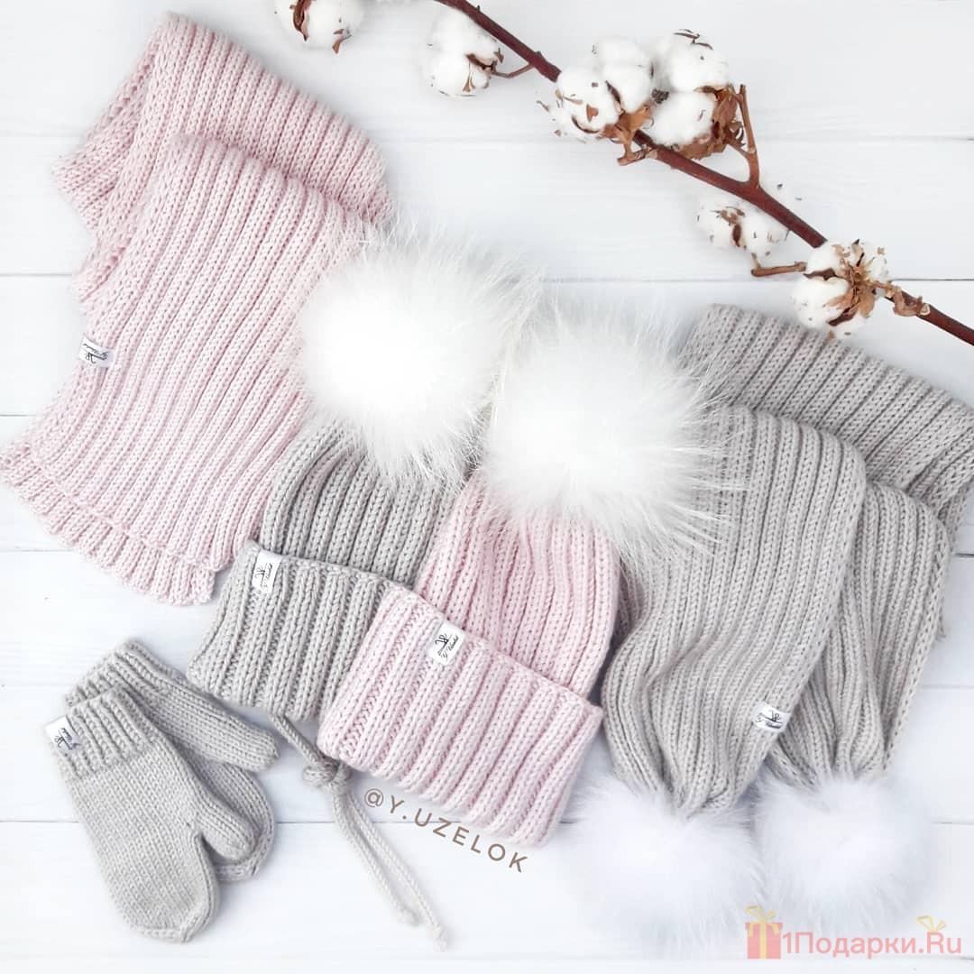 шарфик и перчатки девушке как подарок