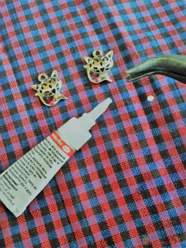 подвески кошечки сережки