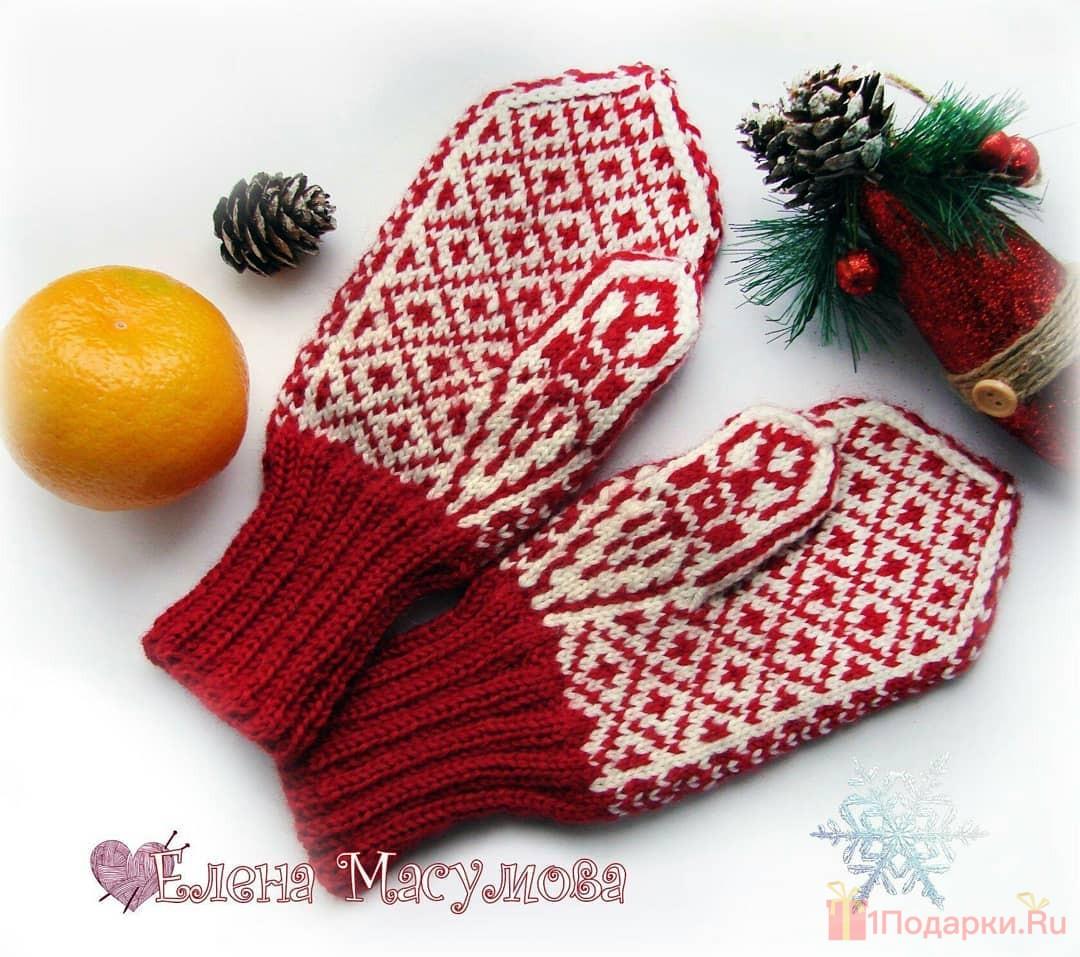 праздничные рукавицы